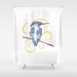 Kingfisher - Inked Shower Curtain