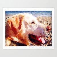 jake Art Prints featuring Jake by Vix Edwards - Fugly Manor Art