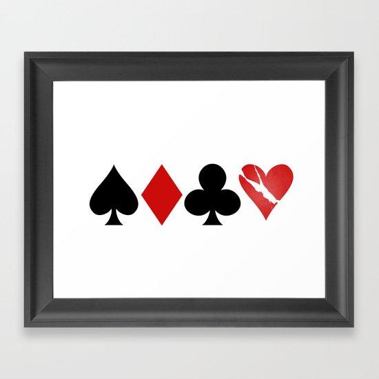 Love is a Game Framed Art Print