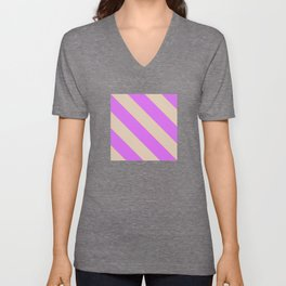 Fluorescent Semaphore Graphic Series Unisex V-Neck