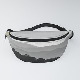 Misty Mountains. Yesterday At Sunset. Square Fanny Pack