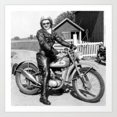 1952 Motorcycle Momma Art Print