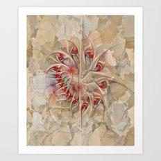 Fractured Love Art Print