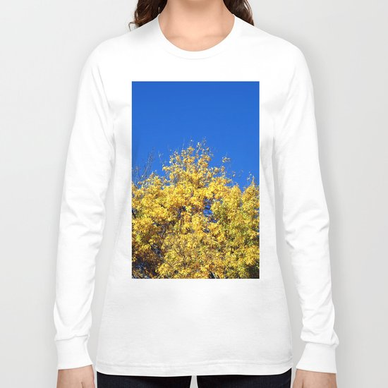 Yellow Autumn Tree Long Sleeve T-shirt