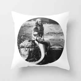 Mermaid with Baby Throw Pillow