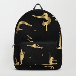 Black and Gold Gymnastics Backpack