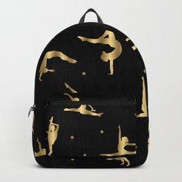 Black and Gold Gymnastics Backpack