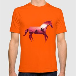 Origami Horse (Wild West) T-shirt