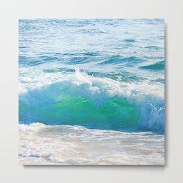 Gentle Surf Metal Print