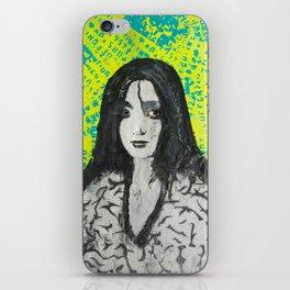 neon girl iPhone Skin
