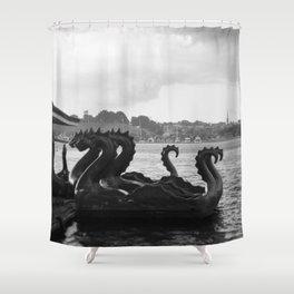 dragons, waiting Shower Curtain