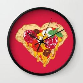 Pizza is my true Valentine Wall Clock
