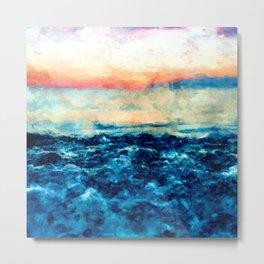 Sea And Sunset Metal Print