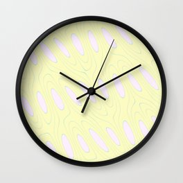 Geo Flow Yellow Pink Wall Clock