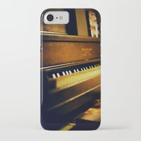 piano iPhone & iPod Cases featuring piano by Liz Morrison Smith