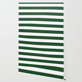 Cal Poly Pomona green - solid color - white stripes pattern Wallpaper