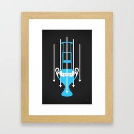 Aeropress Championship – Blue Framed Art Print