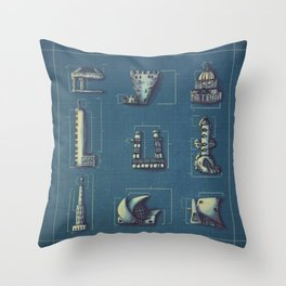 Blueprint for Architectural Growth Throw Pillow