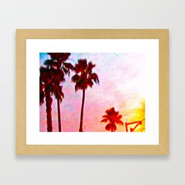 Southern California Sunset Framed Art Print