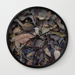 Autumn Leaves in Deep Forest Wall Clock