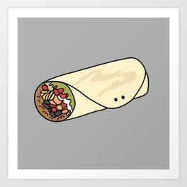 Burrito Friend Art Print