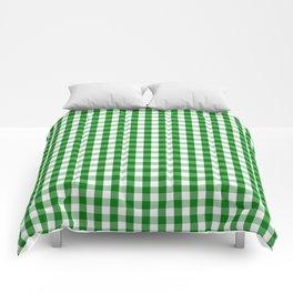 Christmas Green Gingham Check Comforters