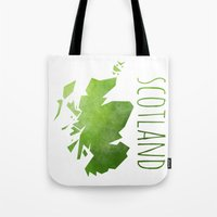 scotland Tote Bags featuring Scotland by Stephanie Wittenburg