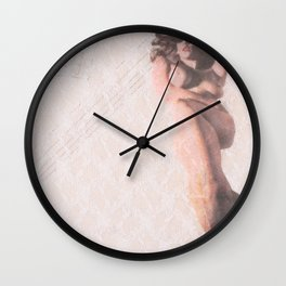 Reclining Lace Nude Wall Clock