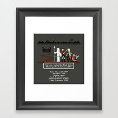 Aragorn Trail Framed Art Print