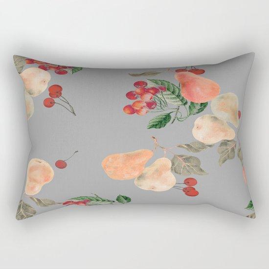 cherries and pears winter Rectangular Pillow