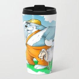 old english sheepdog Metal Travel Mug