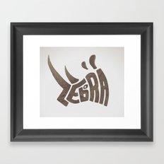 Them Zebras Framed Art Print