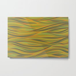 Olive Green and Orange Abstract Metal Print