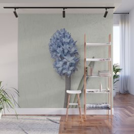 One Light Blue Hyacinth Wall Mural