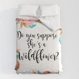 Blush and gold wildflower Comforters