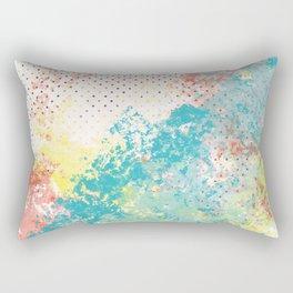 Paint on Polka Dot Abstract Rectangular Pillow