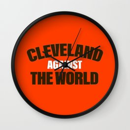 Cleveland Against The World Football Wall Clock