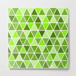 Triangle Pattern - Geometric Fantasy - Minimalist Art Metal Print