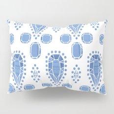 Gems Pattern, Light Blue Pillow Sham