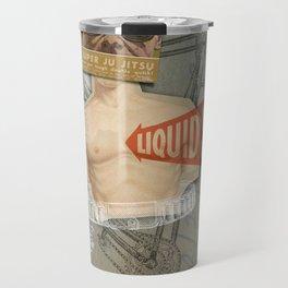 Super Ju Jitsu Liquid Silver Travel Mug