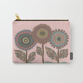 Fabby Flowers-Vintage colors Carry-All Pouch