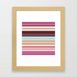 Sandwich cookie stripes Framed Art Print