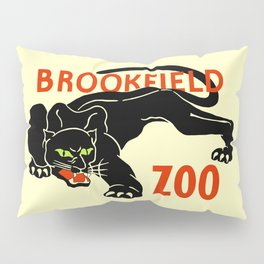 Black panther Brookfield Zoo ad Pillow Sham