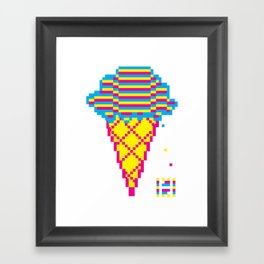 GIF Cream Framed Art Print