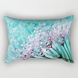 Dew on dandelions II Rectangular Pillow