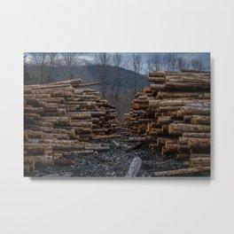 Logging in Darrington Metal Print