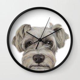 Rescue Dog series, Schnauzer mix, Kole by miart Wall Clock