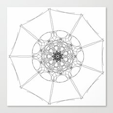 love mandala number 1 Canvas Print