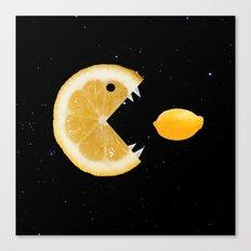 Funny Lemon Eats lemon Canvas Print