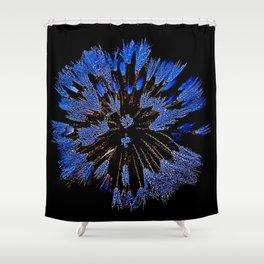 Dew On Dandelion, Wild Mandala Shower Curtain